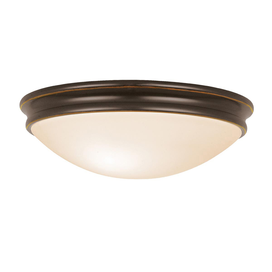 shop access lighting 14 in w oil rubbed bronze ceiling flush mount at. Black Bedroom Furniture Sets. Home Design Ideas