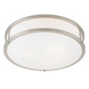 Access Lighting 19-in Brushed Steel Ceiling Flush Mount
