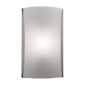 Access Lighting Radon 8.5-in W 1-Light Brushed Steel Pocket Hardwired Wall Sconce