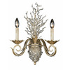 Triarch International 15-in W Garland 2-Light Gold Leaf Crystal Arm Wall Sconce