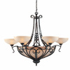 Triarch International 12-Light Passion Bronze Oro Chandelier