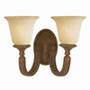 Triarch International 14-in W Ambassador 2-Light Moroccan Bronze Arm Wall Sconce