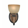 Triarch International 6-in W Olympian 1-Light Torch Bronze Arm Wall Sconce