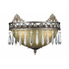 Triarch International 16-in W Le Grandeur 1-Light English Bronze Crystal Pocket Wall Sconce
