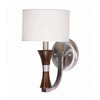 Triarch International 7-in W Brady 1-Light Espresso Wood Arm Wall Sconce