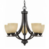 Triarch International 5-Light Value Series 240 English Bronze Chandelier