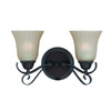 Triarch International 14-in W Value Series 270 2-Light Bronze Arm Wall Sconce