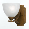 Triarch International 5-in W Value Series 280 1-Light Aged Gold Arm Wall Sconce