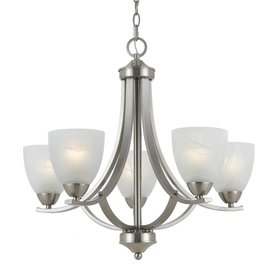 Triarch International 5-Light 290 Series Satin Nickel Chandelier
