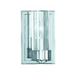 Triarch International 4-1/2-in W Glacier 1-Light Chrome Arm Wall Sconce
