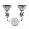 Triarch International 13-in W Medallion 2-Light Chrome Arm Wall Sconce