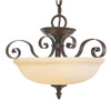 Livex Lighting 18-1/2-in W Manchester Imperial Bronze Pendant Light
