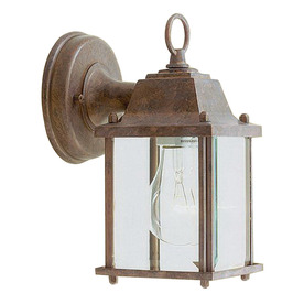 Livex Lighting Basics 8-in Weathered Brick Outdoor Wall Light