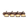 Livex Lighting Seville 41.5-in W 4-Light Palacial Bronze Arm Hardwired Wall Sconce