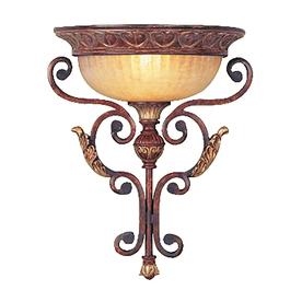 Livex Lighting Villa Verona 13.7-in W 1-Light Verona Bronze Pocket Hardwired Wall Sconce