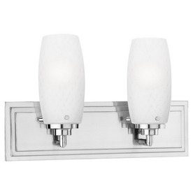 ... Lighting 2-Light Vado Brushed Nickel Bathroom Vanity Light at Lowes