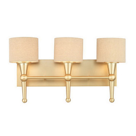 Shop Thomas Lighting 3 Light Allure Couture Gold Art Glass Bathroom Vanity Li