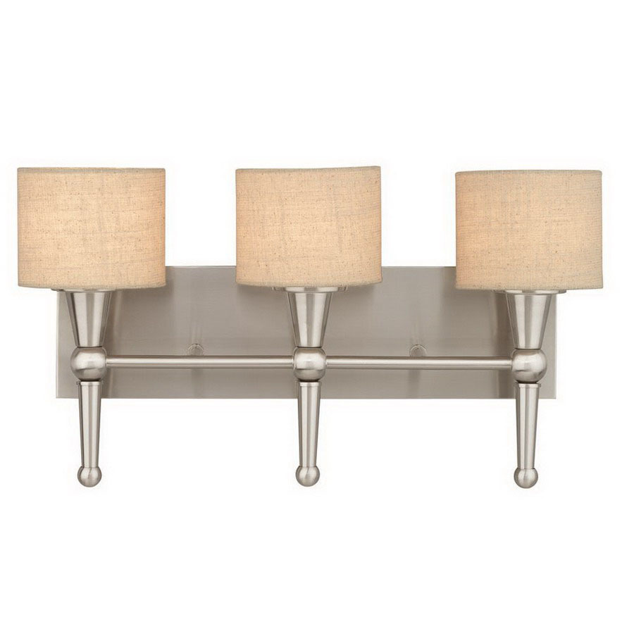 Art Glass Vanity Light : Shop Thomas Lighting 3-Light Allure Brushed Nickel Art Glass Bathroom Vanity Light at Lowes.com