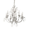 Thomas Lighting 8-Light Lido Chrome Crystal Accent Chandelier