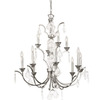 Thomas Lighting 12-Light Lido Chrome Crystal Accent Chandelier