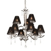 Thomas Lighting 9-Light Jacqueline Chrome Crystal Accent Chandelier