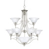 Thomas Lighting 11-Light Cirrus Brushed Nickel Chandelier
