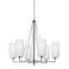 Thomas Lighting 6-Light Vado Brushed Nickel Chandelier