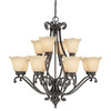 Thomas Lighting 12-Light Napa Natural Slate Chandelier