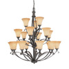 Thomas Lighting 18-Light Magnolia Painted Bronze Chandelier
