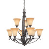 Thomas Lighting 9-Light Magnolia Painted Bronze Chandelier