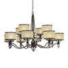 Thomas Lighting 12-Light Longitude Painted Bronze Chandelier