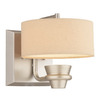 Thomas Lighting 7-in W Tarragon 1-Light Brushed Nickel Arm Wall Sconce