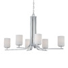 Thomas Lighting 6-Light Pendenza Brushed Nickel Chandelier