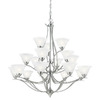 Thomas Lighting 18-Light Prestige Brushed Nickel Chandelier