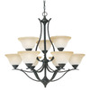 Thomas Lighting 9-Light Prestige Sable Bronze Chandelier