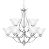 Thomas Lighting 9-Light Prestige Brushed Nickel Chandelier