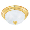 Thomas Lighting 13-1/4-in Polished Brass Ceiling Flush Mount