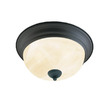 Thomas Lighting 11-1/4-in Painted Bronze Ceiling Flush Mount