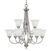 Thomas Lighting 9-Light Harmony Satin Pewter Chandelier