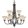 Thomas Lighting 9-Light Harmony Aged Bronze Chandelier