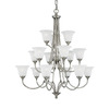 Thomas Lighting 15-Light Harmony Satin Pewter Chandelier