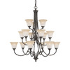 Thomas Lighting 15-Light Harmony Aged Bronze Chandelier