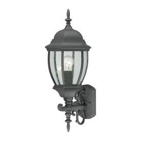 Thomas Lighting Convington 24-in Black Outdoor Wall Light