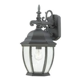 Thomas Lighting Convington 18-in Black Outdoor Wall Light