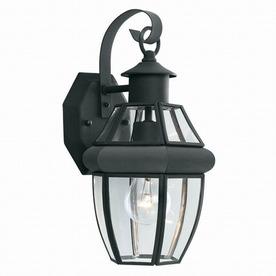 Thomas Lighting Heritage 13-1/4-in Matte Black Outdoor Wall Light