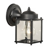 Thomas Lighting Park Avenue 7-1/2-in Black Outdoor Wall Light