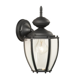 Thomas Lighting Park Avenue 12-1/2-in Black Outdoor Wall Light