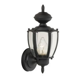 Thomas Lighting Park Avenue 12-in Black Outdoor Wall Light