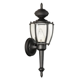 Thomas Lighting Park Avenue 17-1/2-in Black Outdoor Wall Light