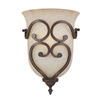 Millennium Lighting 10-in W Courtney Lakes 1-Light Rubbed Bronze Pocket Wall Sconce